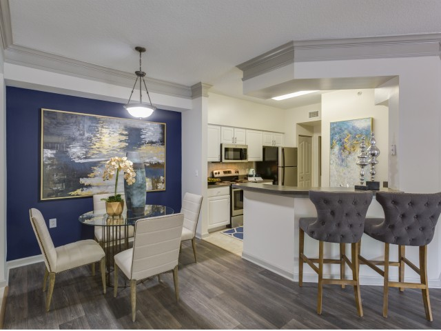 Dining Room At Vista Lago Apartments In West Palm Beach Florida Large Open Concept Floor Plans Will Help You With Your Entertaining