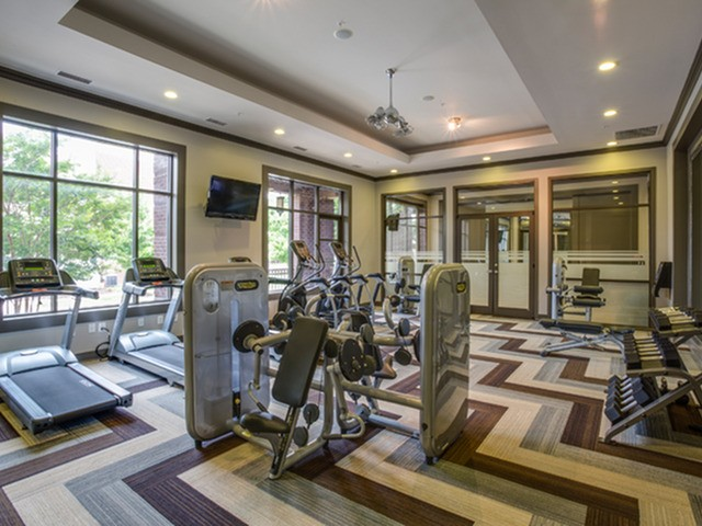 24 hour fitness center at 17 Barkley Apartments in Gaithersburg, MD