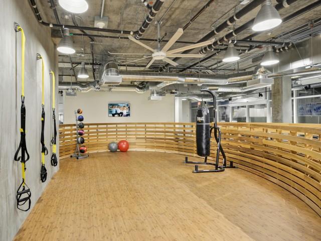Fitness center at L Seven Apartments in San Francisco CA