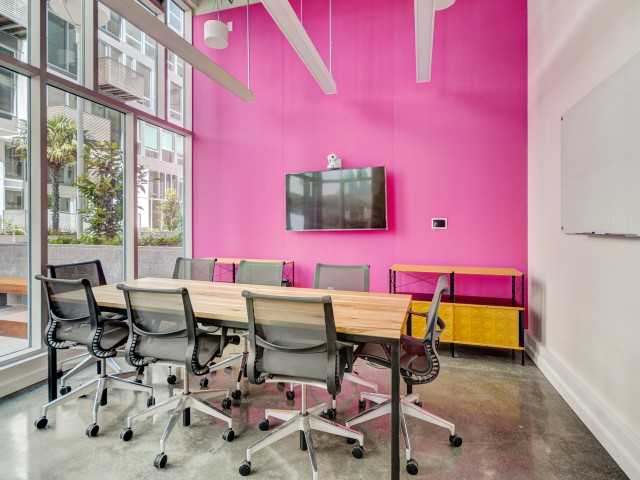 Conference room at L Seven Apartments in San Francisco CA