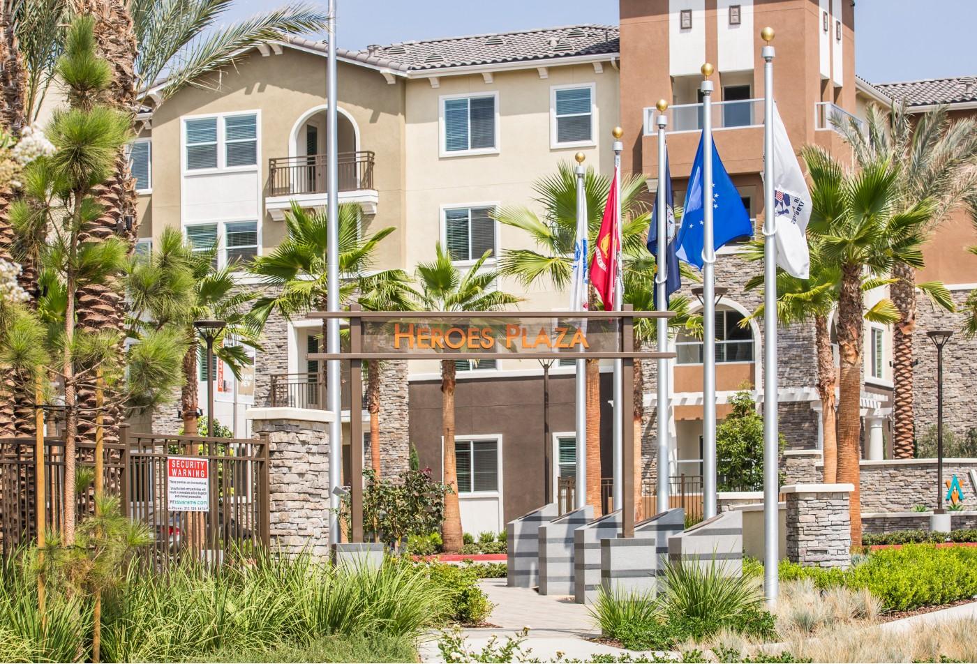 Building at Valentia Apartment Homes in La Habra, CA