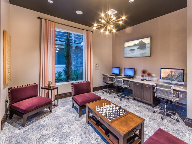 Business Center at Valentia Apartments in La Habra, CA