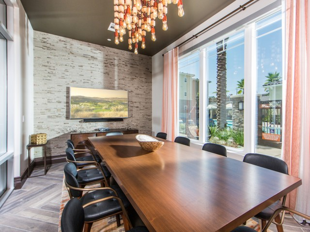 Conference Room at Valentia Apartments in La Habra, CA
