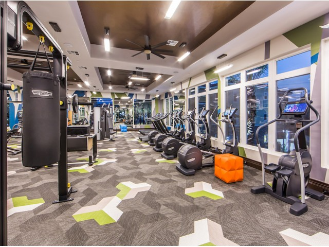 Fitness Center at Valentia Apartments in La Habra, CA