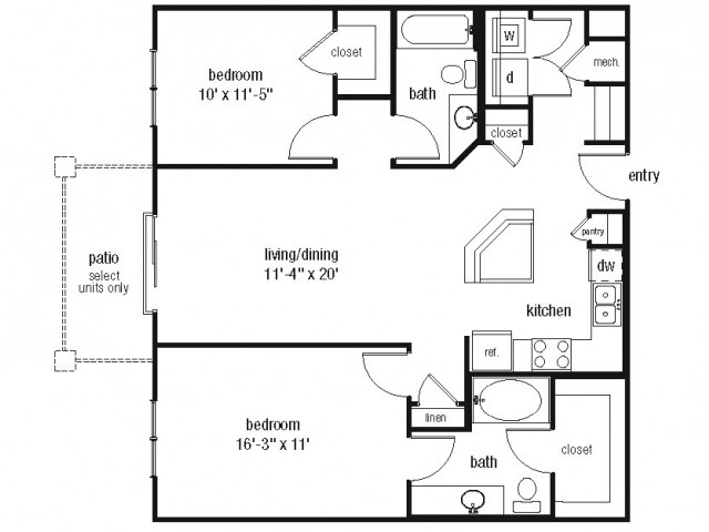 Studio 1 2 3 Bedroom Apartments In Norfolk The Alexander At Ghent