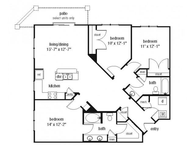 Studio 1 2 3 bedroom apartments in norfolk the - 2 bedroom apartments in norfolk va ...