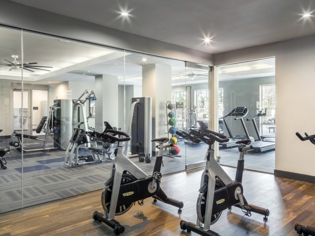 Image of Club fit: fitness center w/Technogym Visioweb & free weights for Talia Apartments
