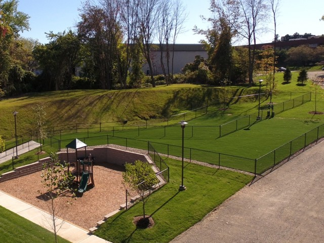 Image of Bark park: pet park featuring Ultimate K9® Turf for Talia Apartments