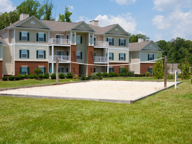 Sand volleyball courts at River Forest Apartments in Chester, VA