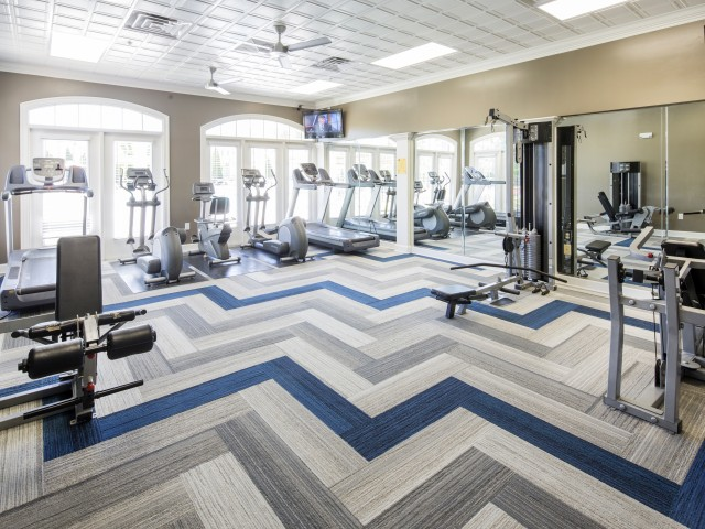 Fitness Center at River Forest apartments in Chester, VA