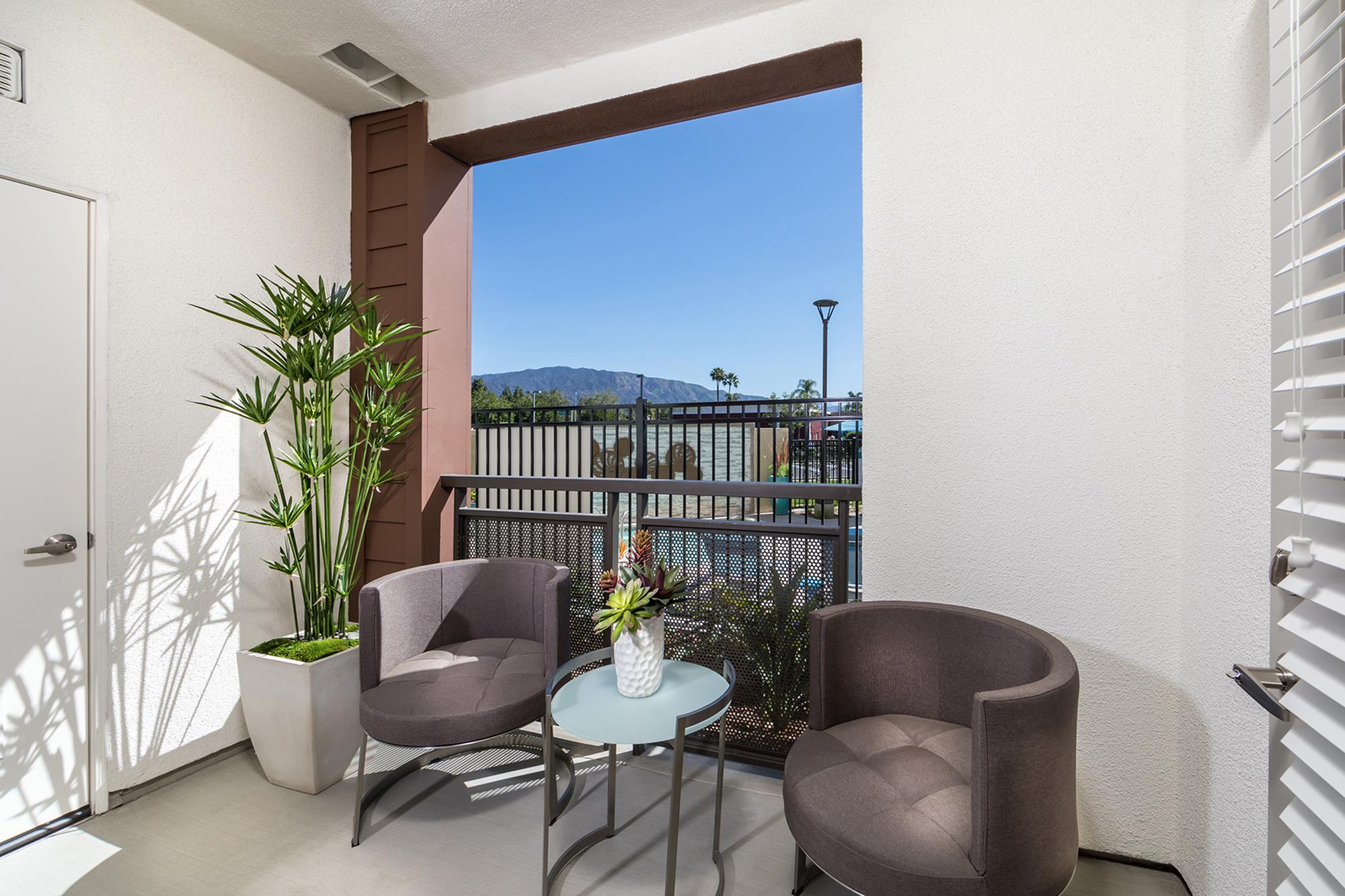Patio at Areum Apartments in Monrovia CA
