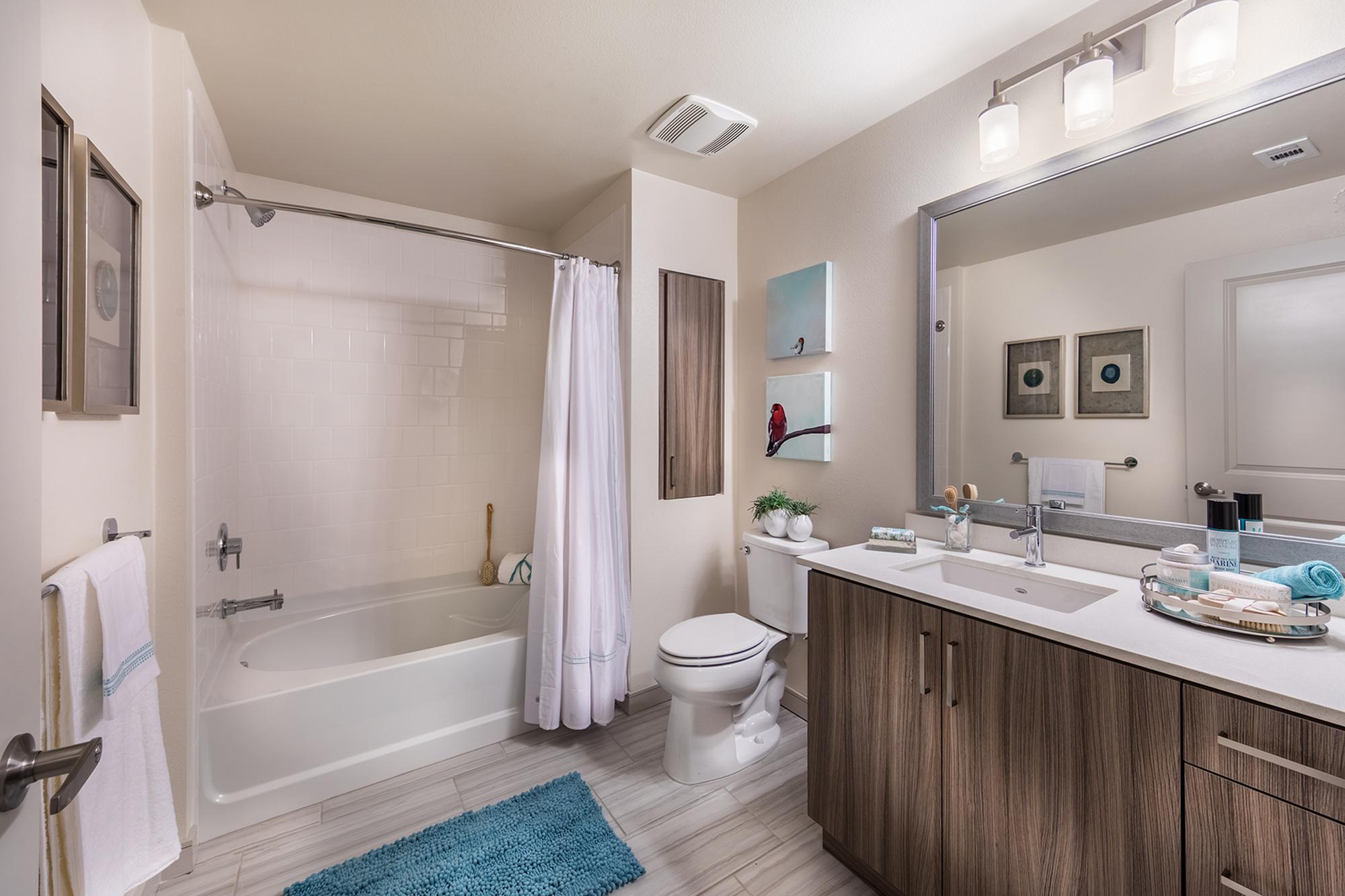 Bathroom at Areum Apartments in Monrovia CA