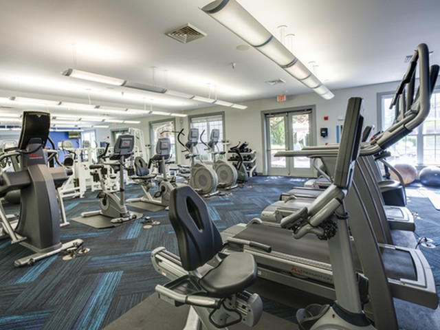 Fitness center at The Montgomery Apartments in Bethesda MD
