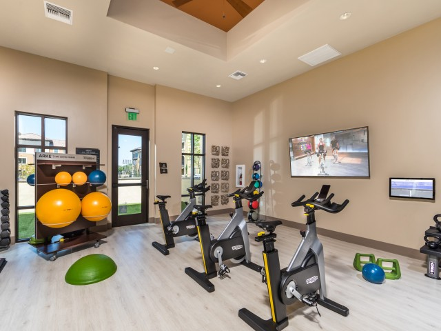 Fitness center at Andorra Apartments in Camarillo, CA