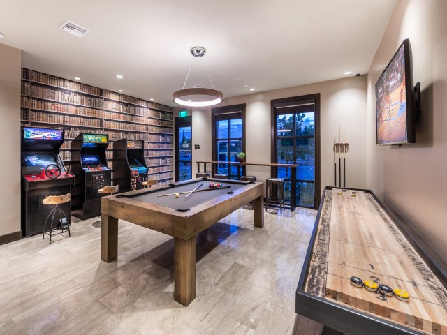 Game room at Andorra Apartments in Camarillo, CA