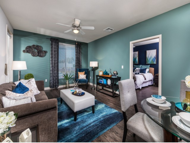 Living Room at RIZE Irvine apartments in Irvine, CA