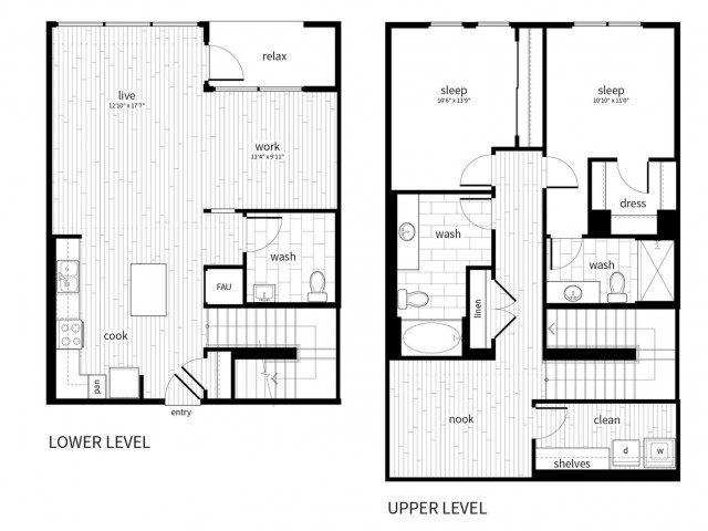 B6 Floorplan at Vela on Ox Apartments in Woodland Hills, CA