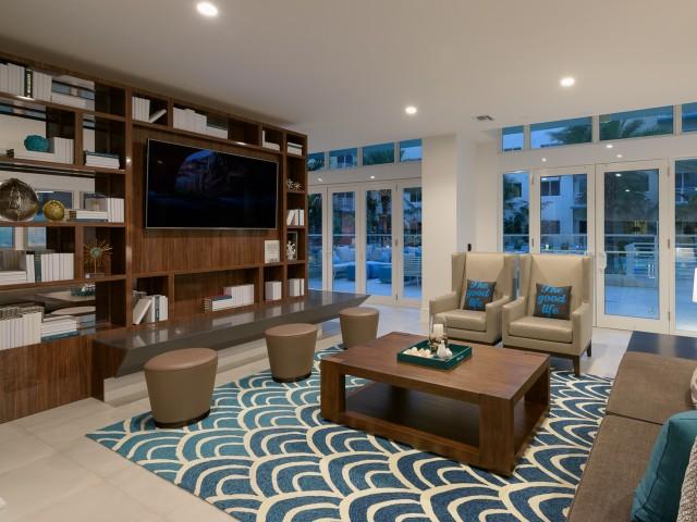Social Lounge at ORA Flagler Village apartments in Fort Lauderdale, FL