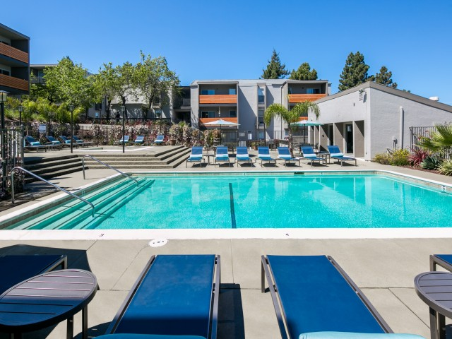 Pool at Bayside Apartments in Pinole, CA