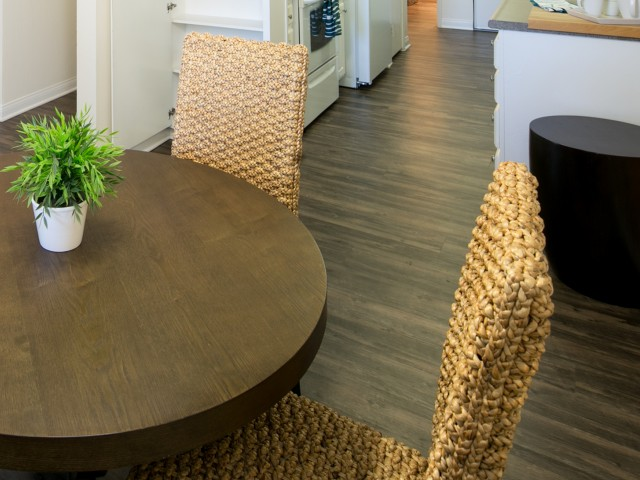 Wood look flooring at Bayside Apartments in Pinole, CA