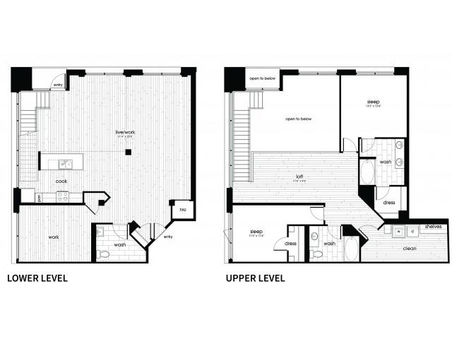 B7 Floorplan at Vela on Ox Apartments in Woodland Hills, CA