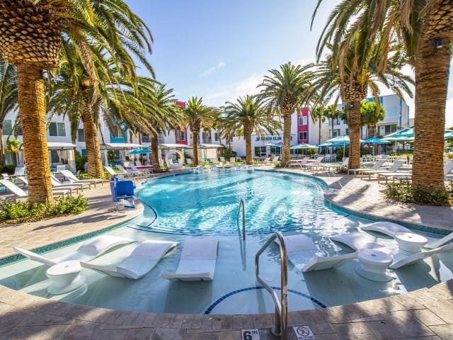 Pool at South Beach Apartments in Las Vegas, NV
