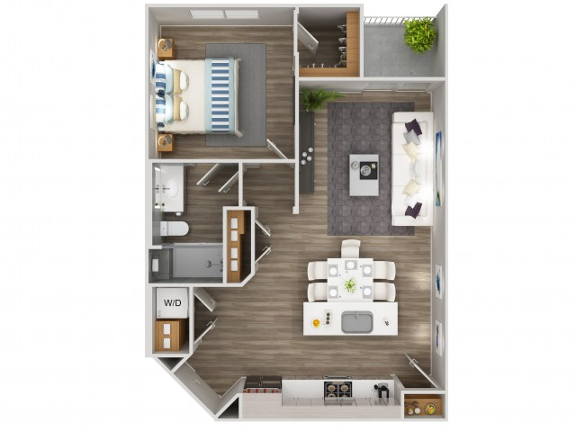 A2 Floorplan at South Beach Apartments in Las Vegas, NV