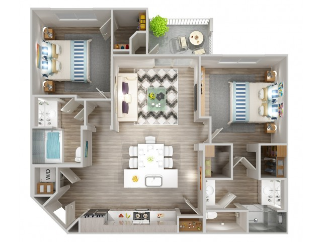 B1 Floorplan at South Beach Apartments in Las Vegas, NV