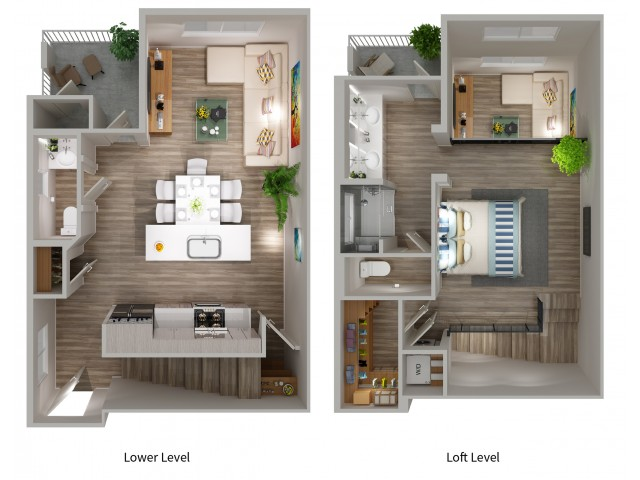 A3WLW Floorplan at South Beach Apartments in Las Vegas, NV