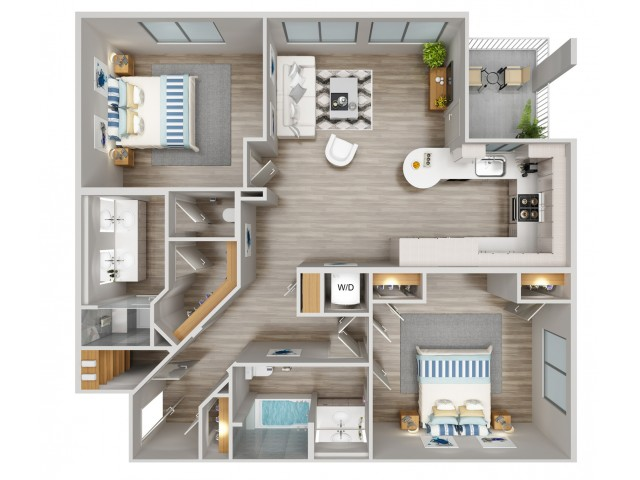 B4 Floorplan at South Beach Apartments in Las Vegas, NV