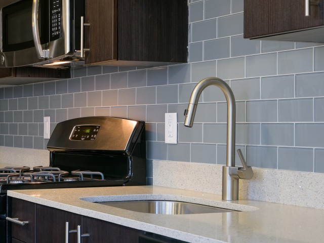 Image of Quartz countertops in kitchen and bathrooms for 7001 Arlington at Bethesda Apartments