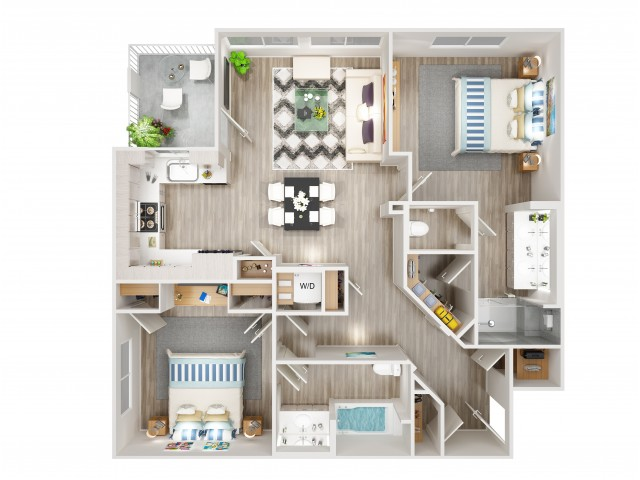 B2 Floorplan at South Beach Apartments in Las Vegas, NV