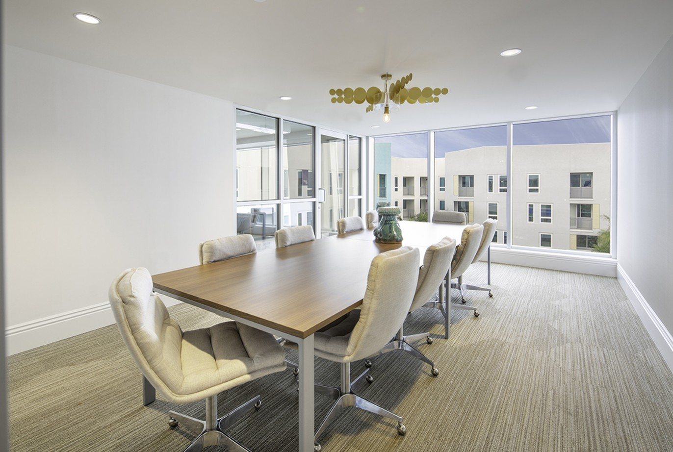 Conference room at Vela on OX Apartments in Woodland Hills CA
