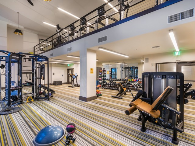 Fitness center at 808 West Apartments in San Jose CA