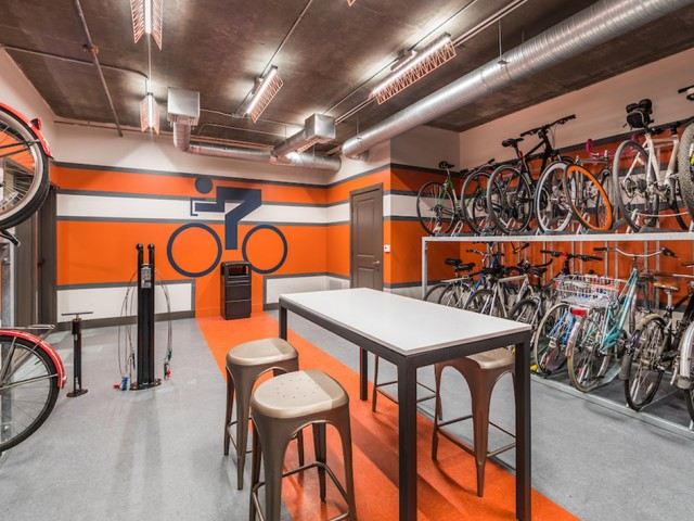 Bike room at 808 West Apartments in San Jose CA