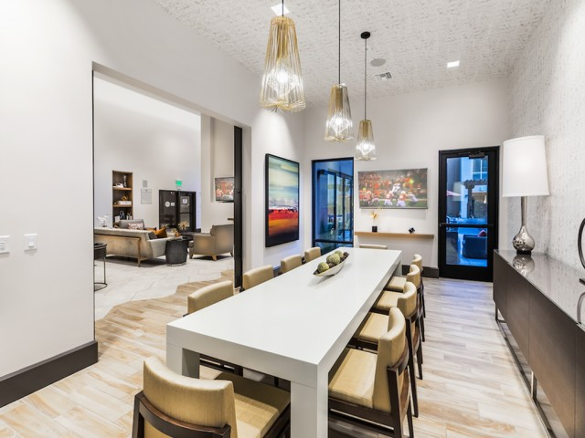 Private dining space at 808 West Apartments in San Jose CA