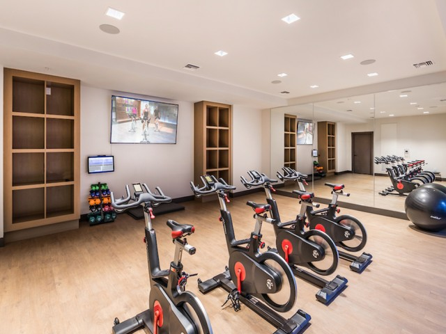 Flex workout space at 808 West Apartments in San Jose CA