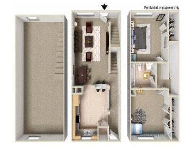 2 Bedroom Townhouse Floorplan