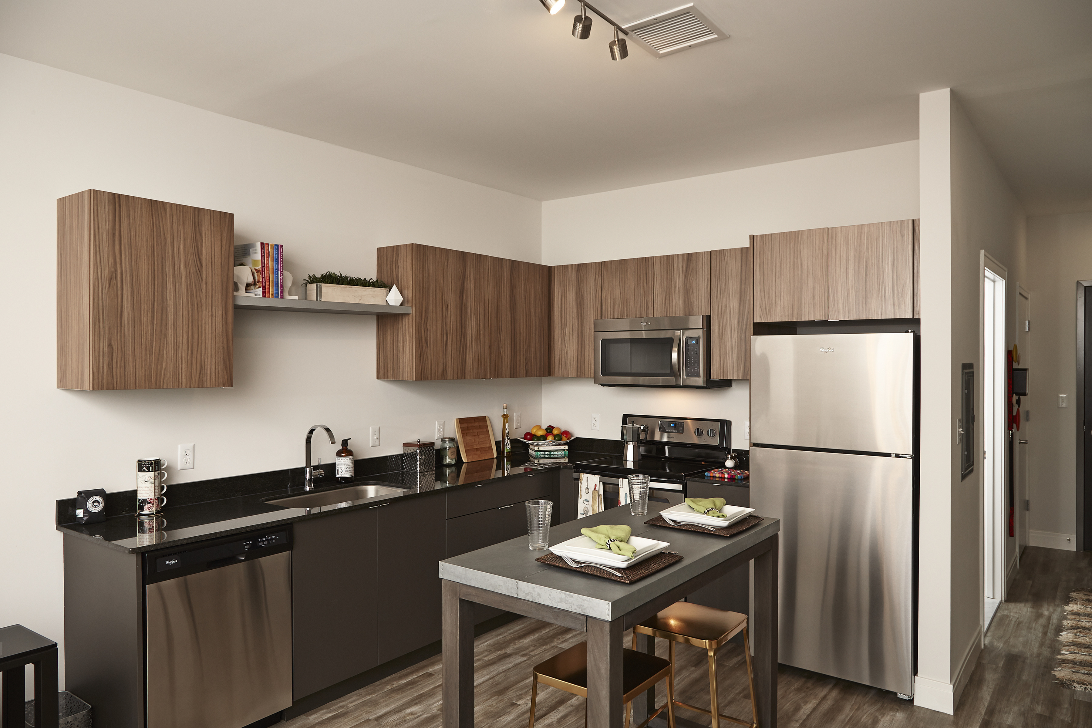 Chef-inspired kitchens complete with Granite Countertops and Stainless Steel Appliances