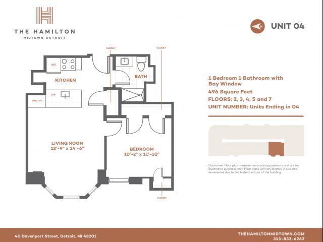 1 BD Bay - Floorplan 4