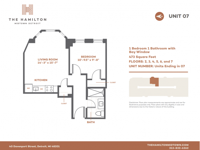 1 BD Bay - Floorplan 7