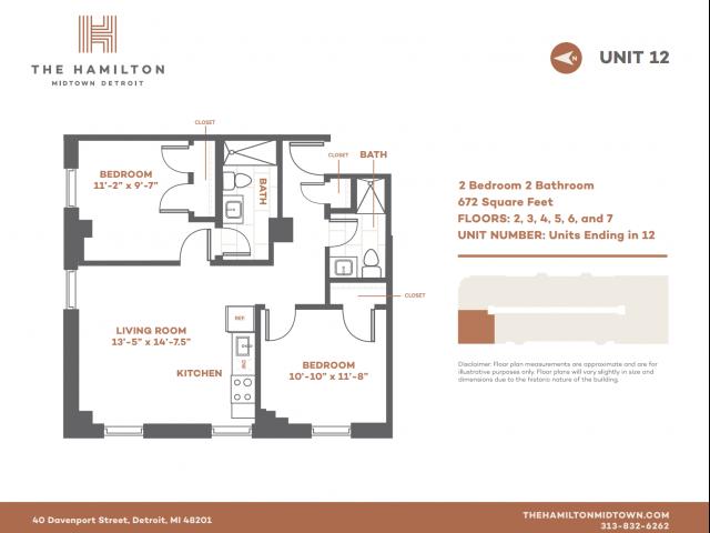 2 BD Standard - Floorplan 12