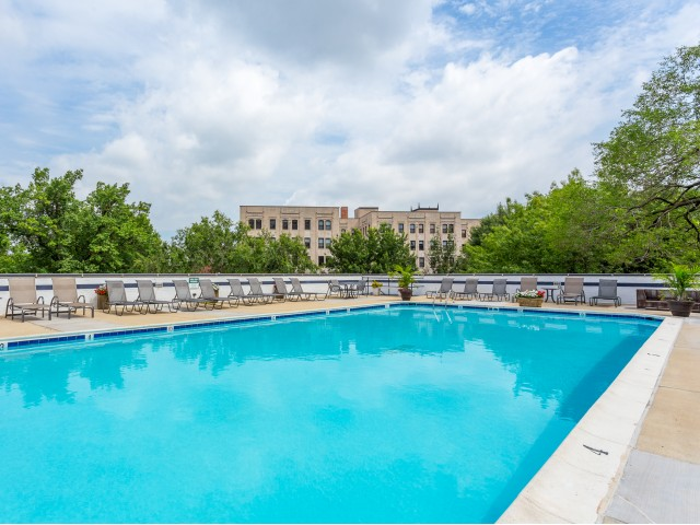 Pool at The Argonne Apartments in Columbia Heights