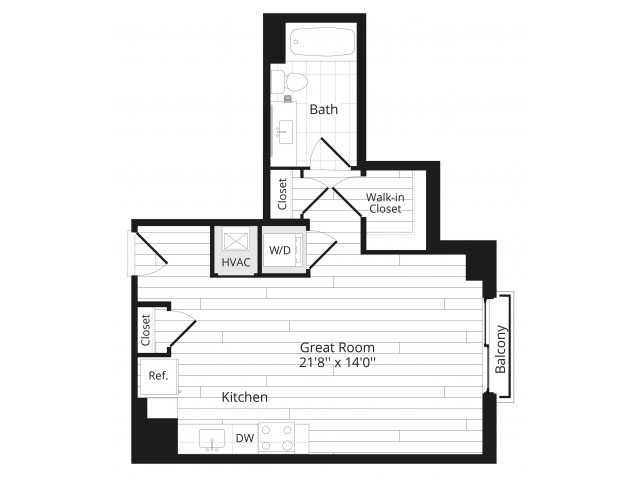 Floorplan image of unit 1117