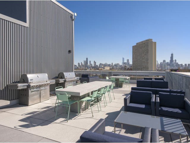 Image of Roof Top Deck with Grills for 1241 North Milwaukee