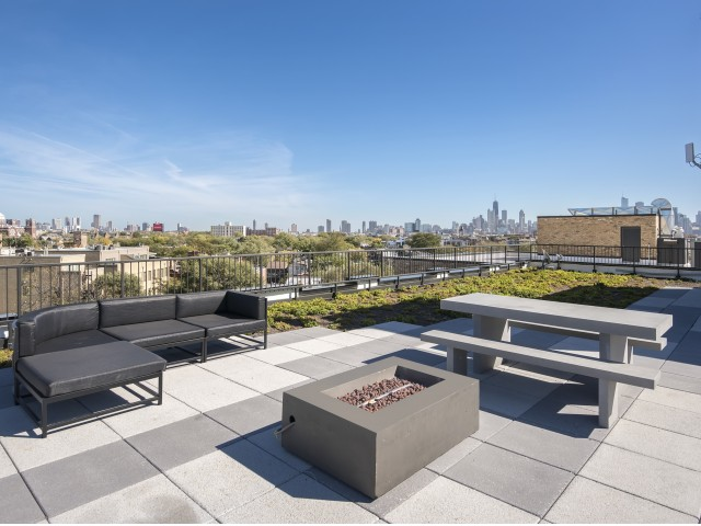 Image of Fully Furnished Roof Deck Terrace for 1647 North Milwaukee