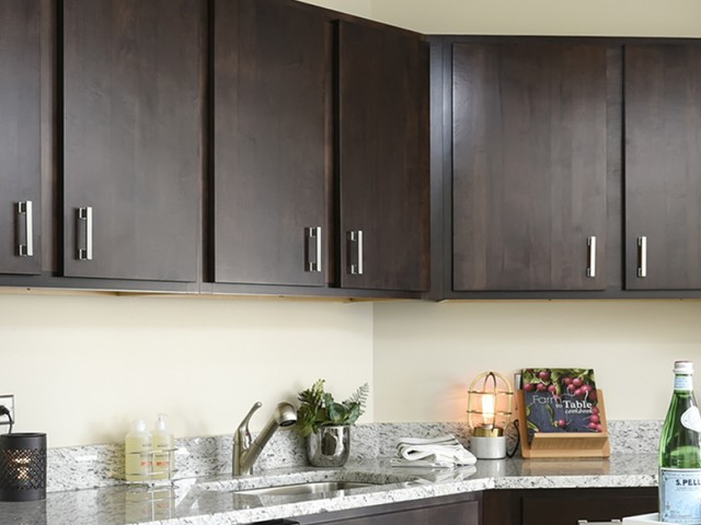 Kitchen with Espresso cabinetry