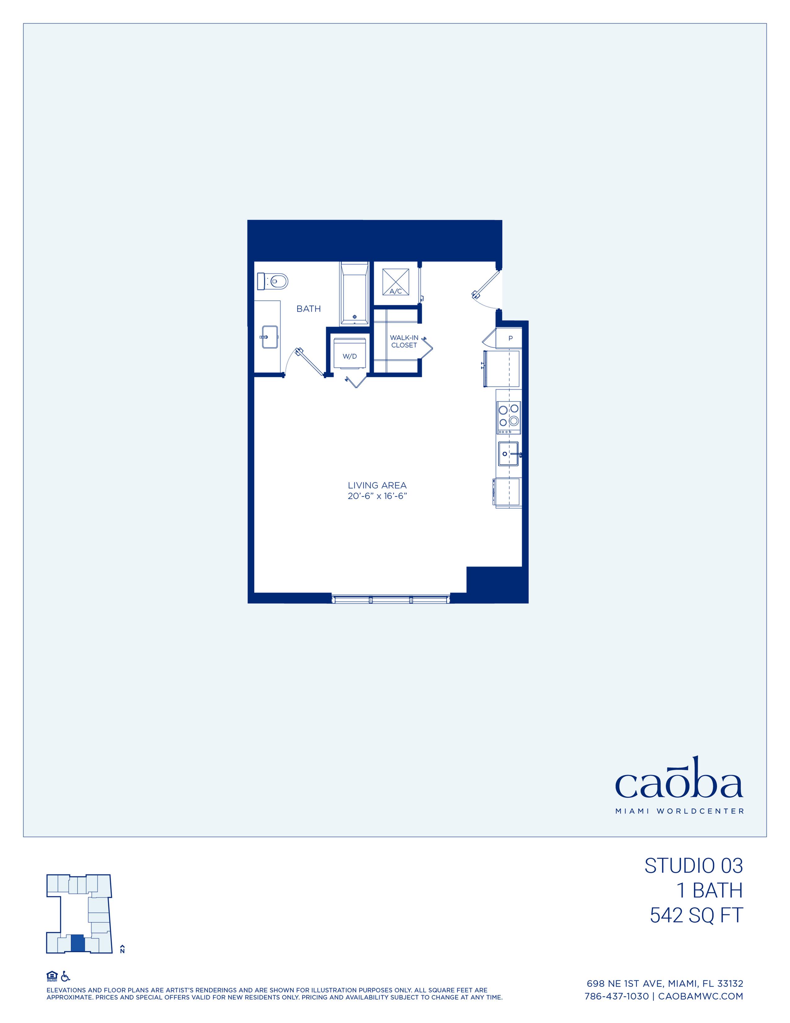 Miami Caoba Floorplan - S-03