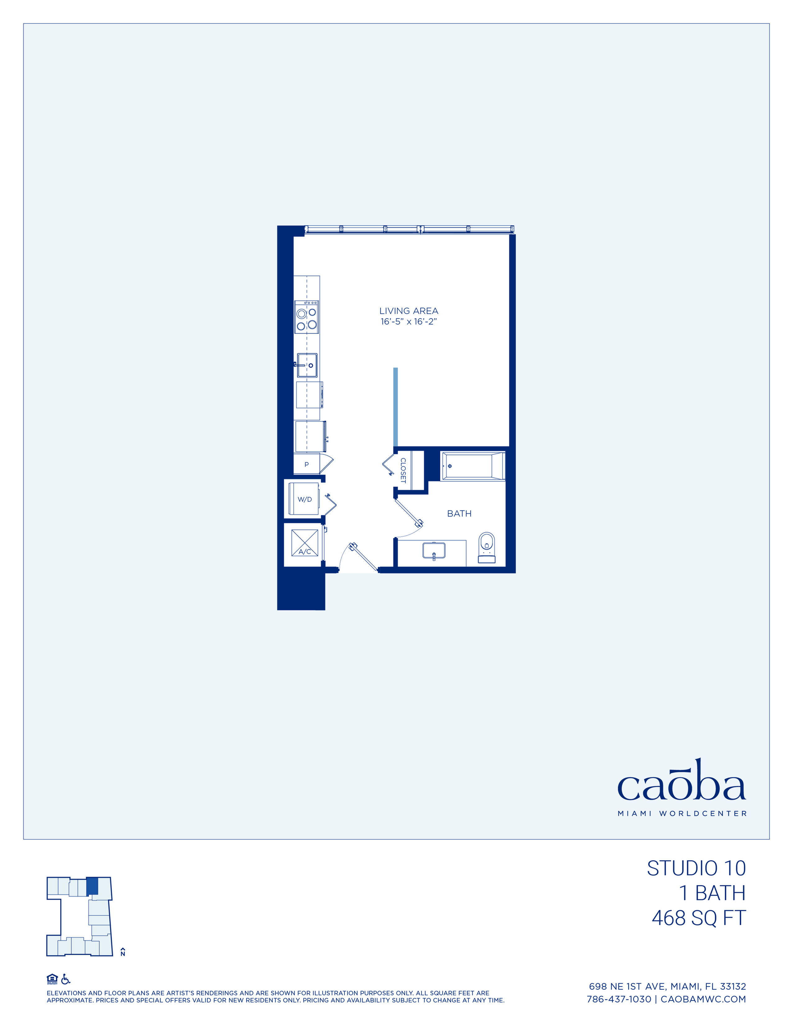 Miami Caoba Floorplan - S-10
