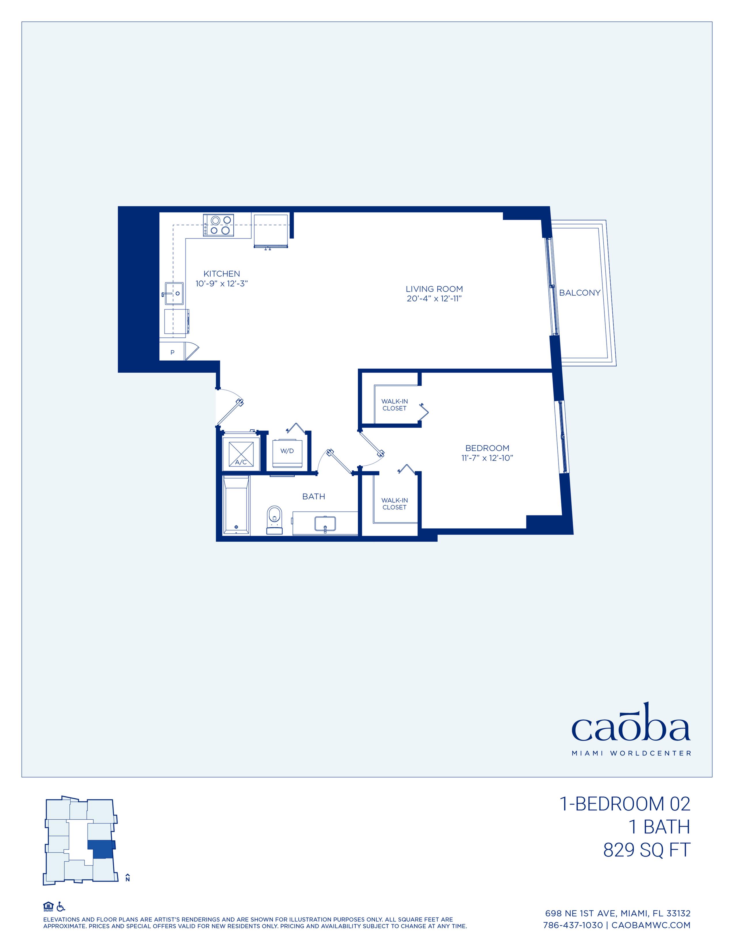 Miami Caoba Floorplan - 1-02